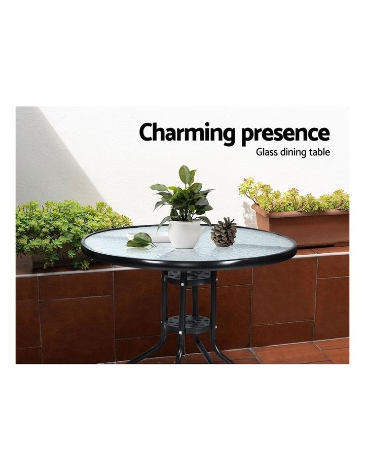 Outdoor Furniture Dining Chairs Rattan Garden Patio Cushion Black 3PCS Tea Coffee Cafe Bar Set image 5