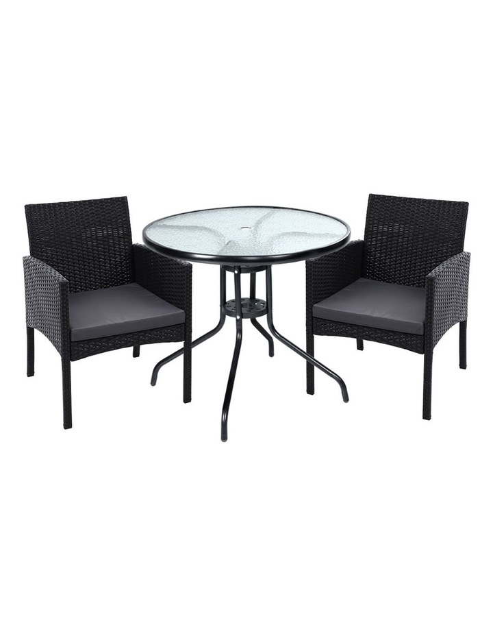 Outdoor Bistro Chairs Patio Furniture Dining Chair Wicker Garden Cushion Tea Coffee Cafe Bar Set image 1