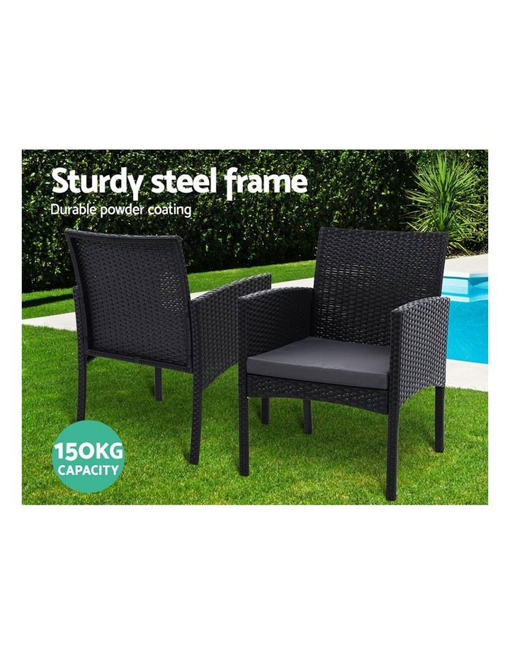 Outdoor Bistro Chairs Patio Furniture Dining Chair Wicker Garden Cushion Tea Coffee Cafe Bar Set image 4