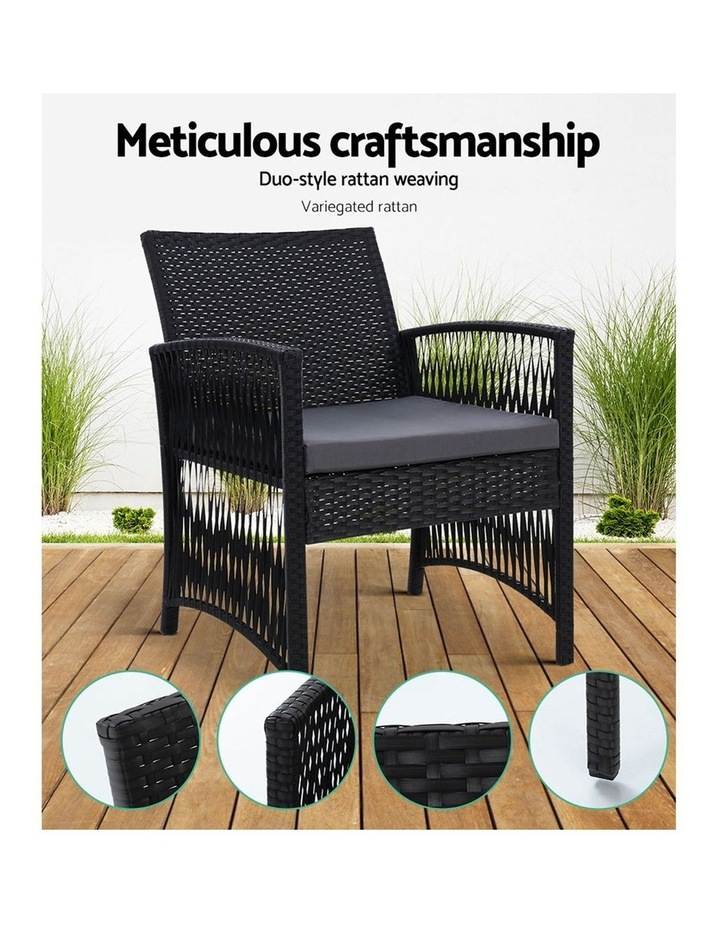 Patio Furniture Outdoor Bistro Set Dining Chairs Setting 3 Piece Wicker image 3
