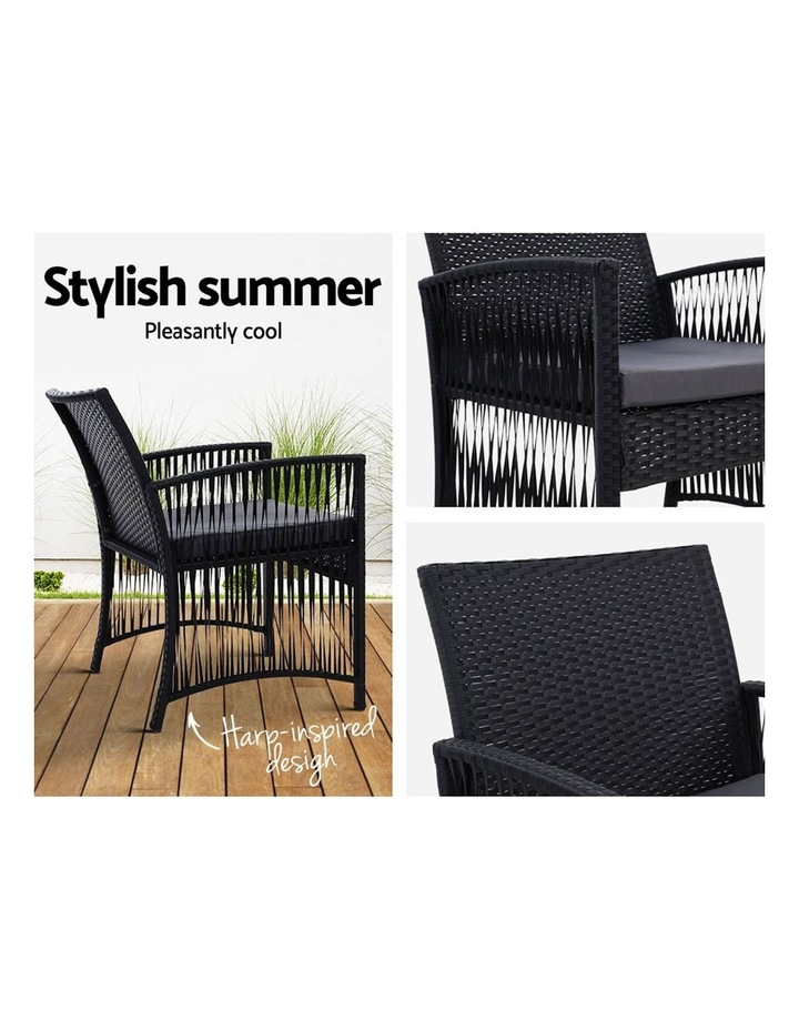 Patio Furniture Outdoor Bistro Set Dining Chairs Setting 3 Piece Wicker image 4