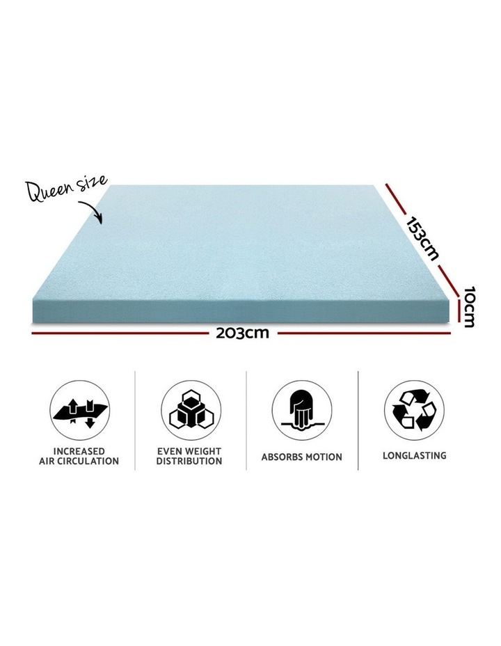 Giselle Memory Foam Mattress Topper Queen Bed Cool Gel Bamboo Cover 10CM image 2