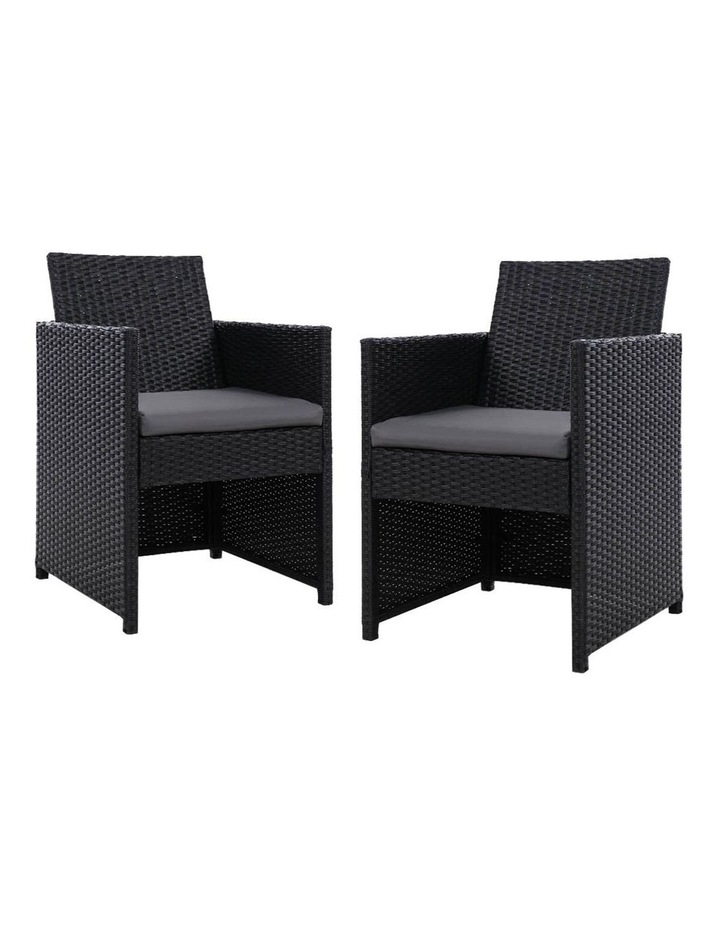 Outdoor Furniture Dining Chairs Patio Setting Wicker Garden Cushion x2 image 1