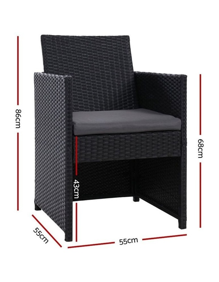 Outdoor Furniture Dining Chairs Patio Setting Wicker Garden Cushion x2 image 2