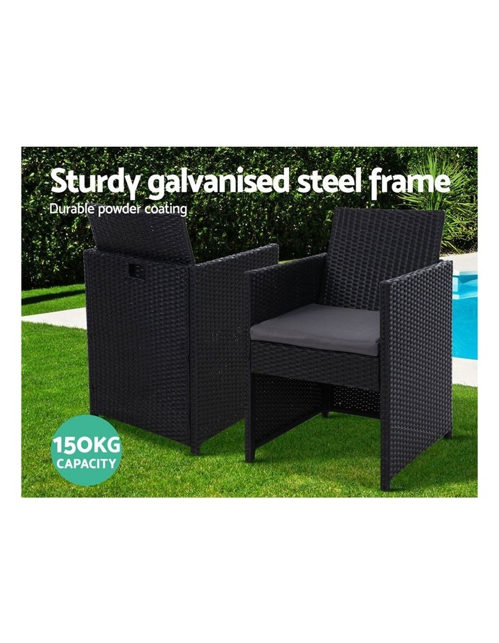 Outdoor Furniture Dining Chairs Patio Setting Wicker Garden Cushion x2 image 4