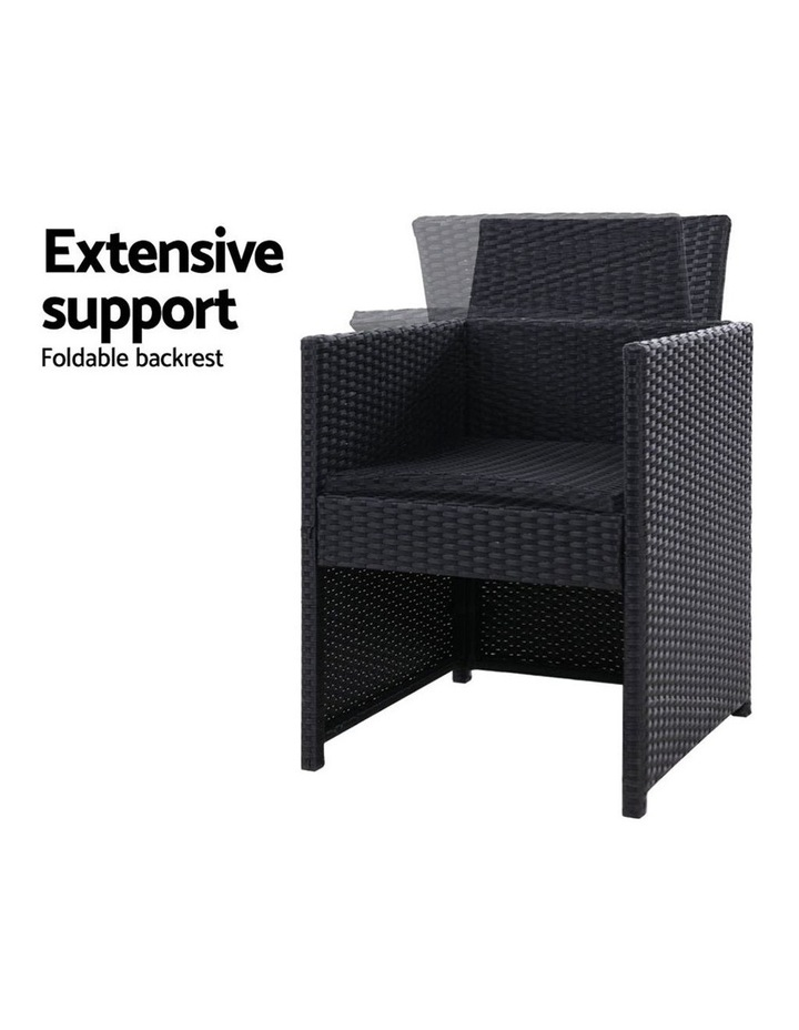 Outdoor Furniture Dining Chairs Patio Setting Wicker Garden Cushion x2 image 5