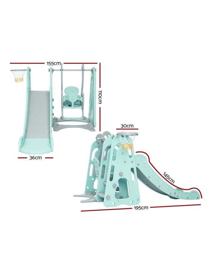 Slide Swing Outdoor Indoor Playground Basketball Hoop Toddler Play image 2