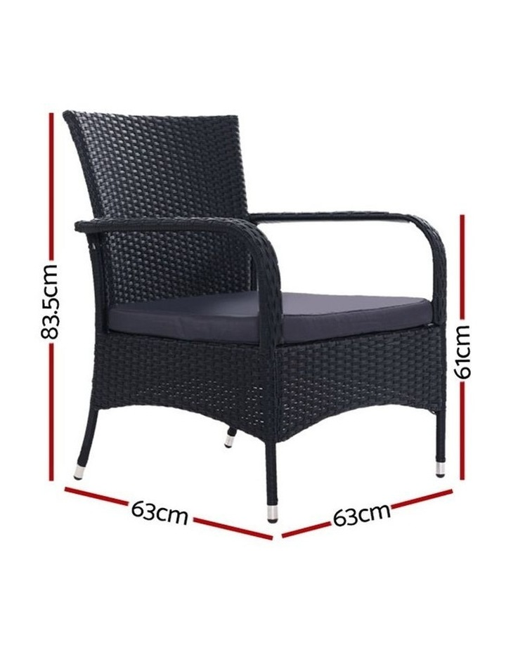 Outdoor Dining Chairs Bistro Patio Furniture Chair Wicker Garden XL 2 Gardeon image 2