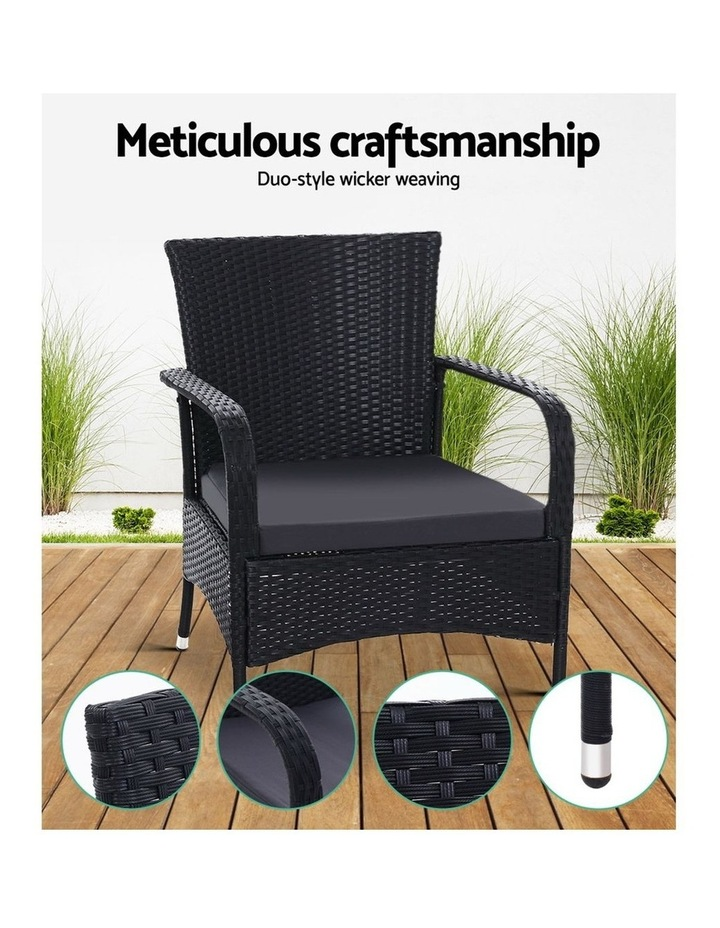 Outdoor Dining Chairs Bistro Patio Furniture Chair Wicker Garden XL 2 Gardeon image 4