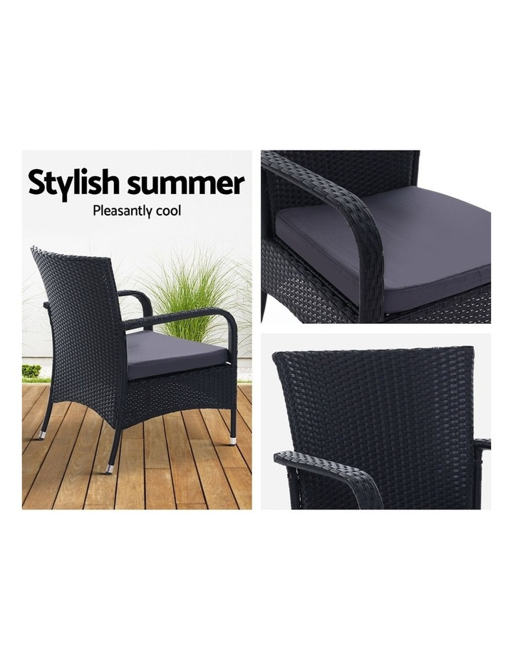 Outdoor Dining Chairs Bistro Patio Furniture Chair Wicker Garden XL 2 Gardeon image 5