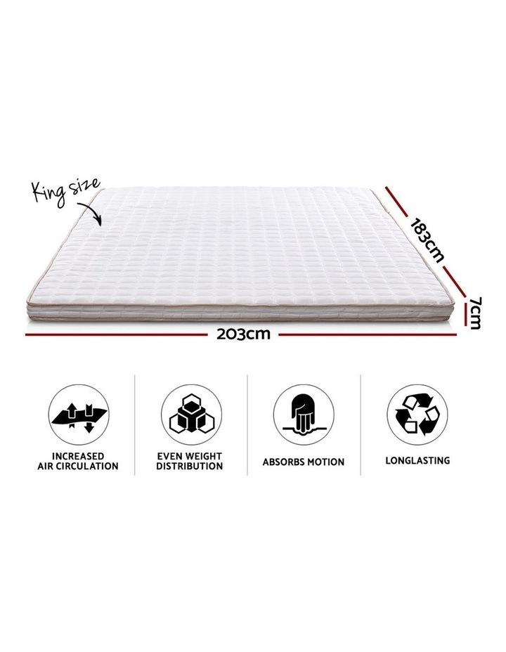 Memory Foam Mattress Topper Bed Underlay Cover King 7cm image 2