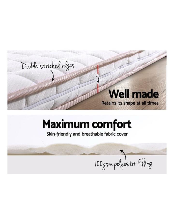 Memory Foam Mattress Topper Bed Underlay Cover King 7cm image 4