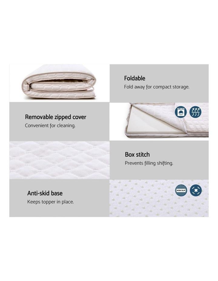 Memory Foam Mattress Topper Bed Underlay Cover King 7cm image 6