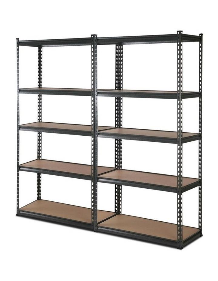 2x0.9M 5-Shelves Steel Warehouse Shelving Racking Garage Storage Rack Grey image 1