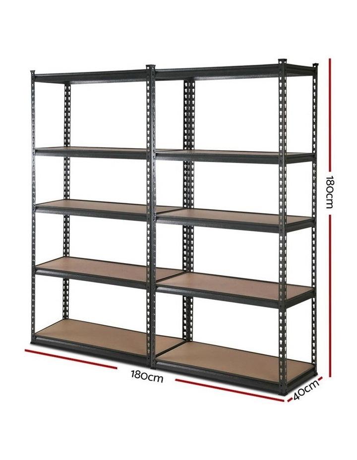 2x0.9M 5-Shelves Steel Warehouse Shelving Racking Garage Storage Rack Grey image 2
