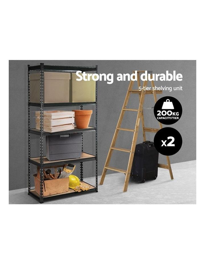 2x0.9M 5-Shelves Steel Warehouse Shelving Racking Garage Storage Rack Grey image 3