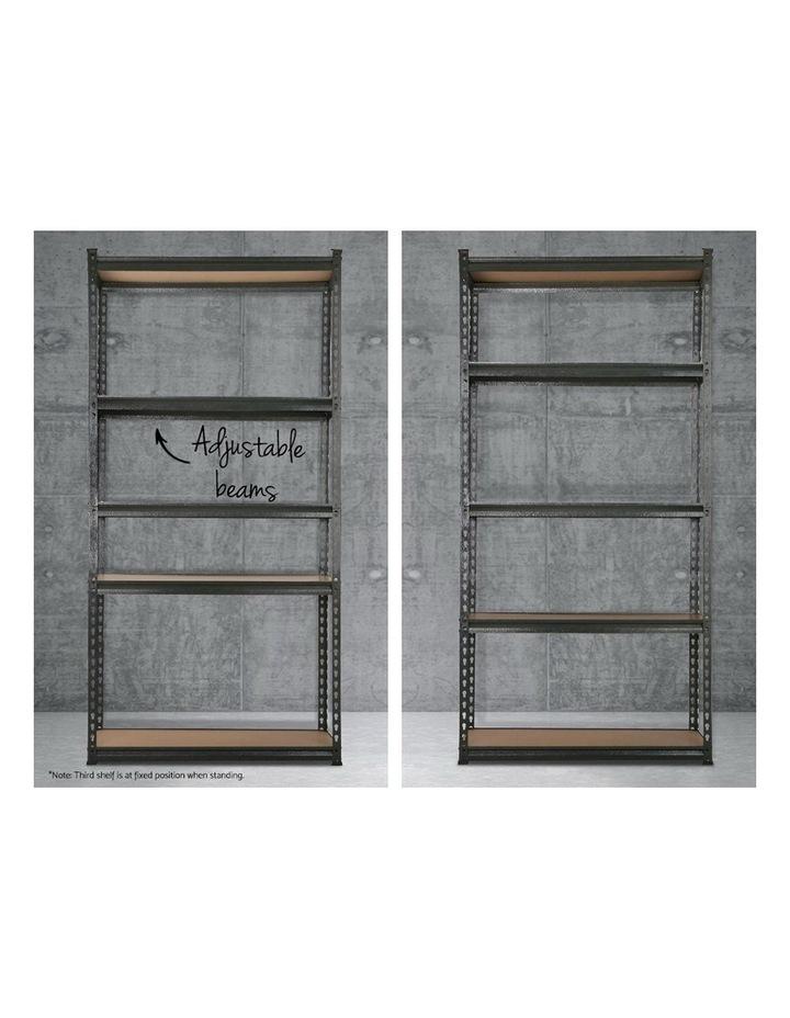 2x0.9M 5-Shelves Steel Warehouse Shelving Racking Garage Storage Rack Grey image 5