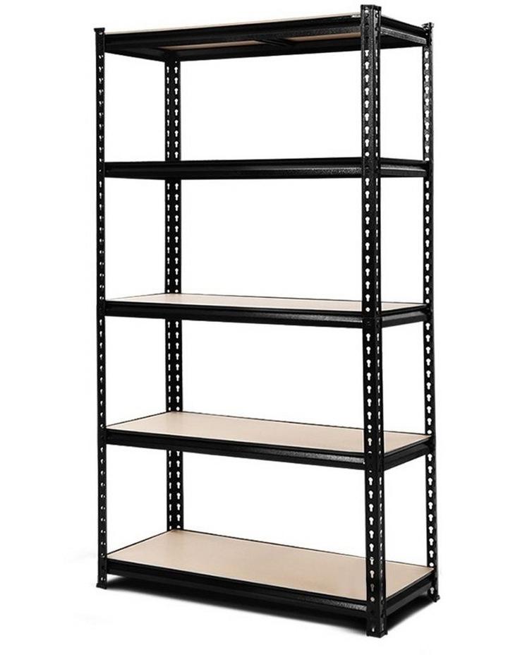 0.9M 5-Shelves Steel Warehouse Shelving Racking Garage Storage Rack Black image 1