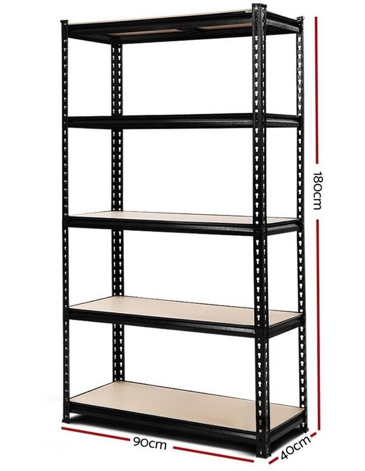 0.9M 5-Shelves Steel Warehouse Shelving Racking Garage Storage Rack Black image 2