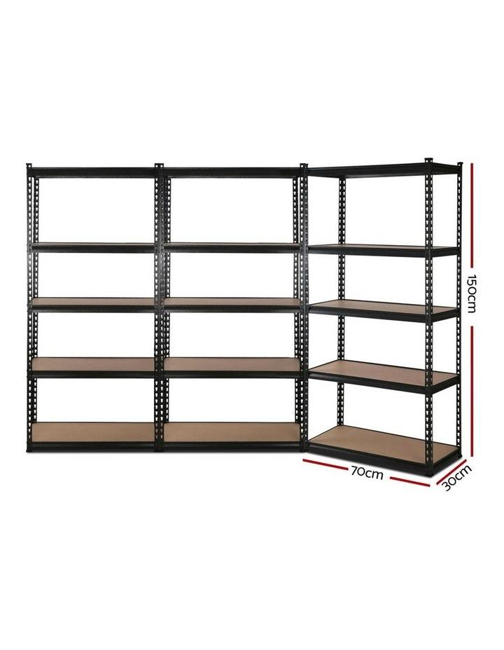 3x0.7M Warehouse Shelving Racking Storage Garage Steel Metal Shelves Rack image 2