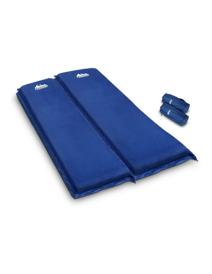Self Inflating Mattress Camping Sleeping Mat Air Bed Pad Double Navy 10CM Thick image 1