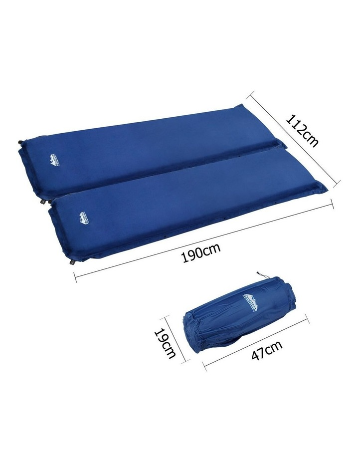 Self Inflating Mattress Camping Sleeping Mat Air Bed Pad Double Navy 10CM Thick image 2