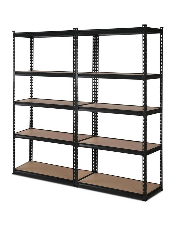 2x0.9M 5-Shelves Steel Warehouse Shelving Racking Garage Storage Rack Black image 1