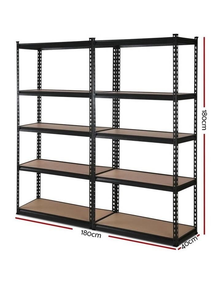 2x0.9M 5-Shelves Steel Warehouse Shelving Racking Garage Storage Rack Black image 2