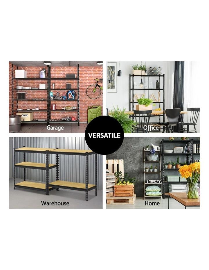 2x0.9M 5-Shelves Steel Warehouse Shelving Racking Garage Storage Rack Black image 6