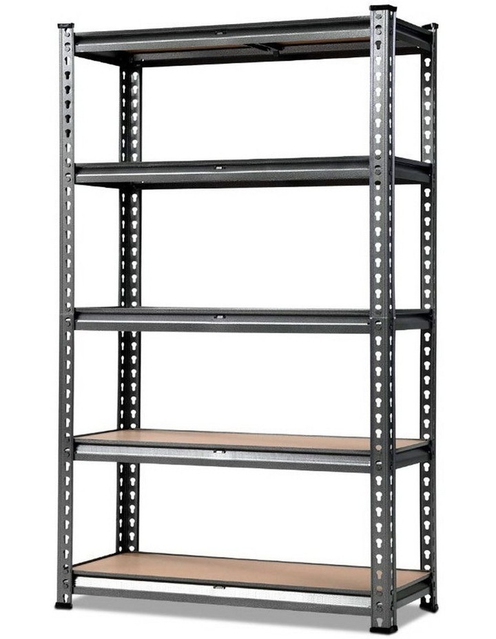 0.9M 5-Shelves Steel Warehouse Shelving Racking Garage Storage Rack Grey image 1