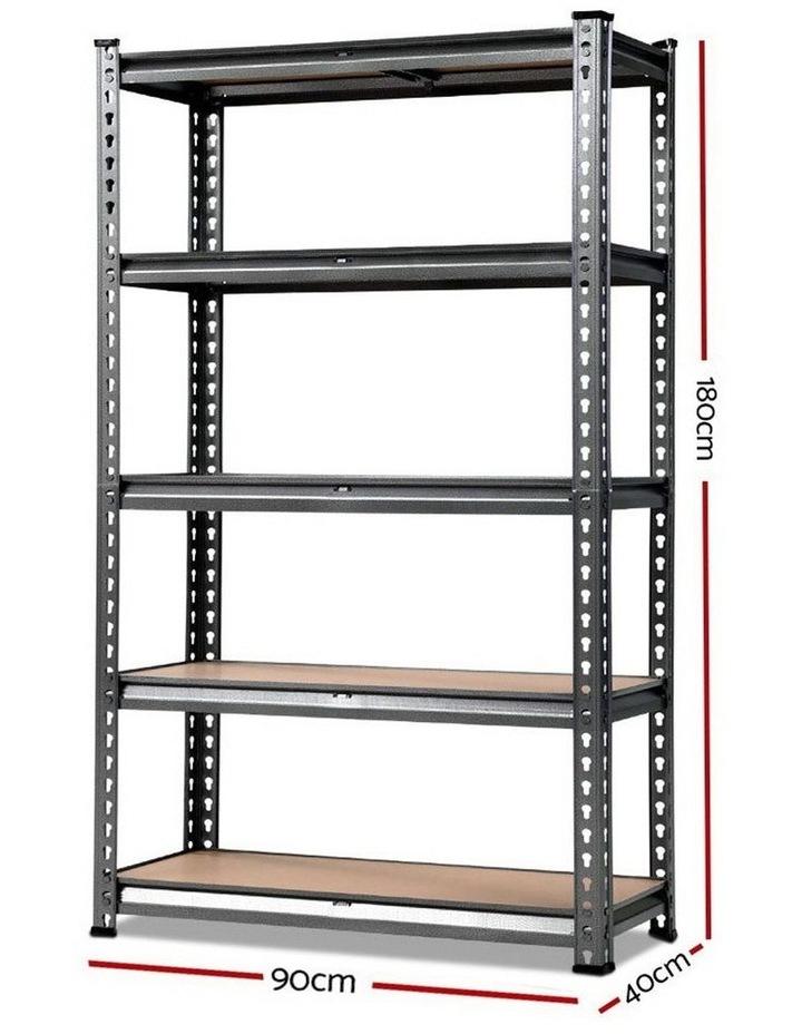0.9M 5-Shelves Steel Warehouse Shelving Racking Garage Storage Rack Grey image 2