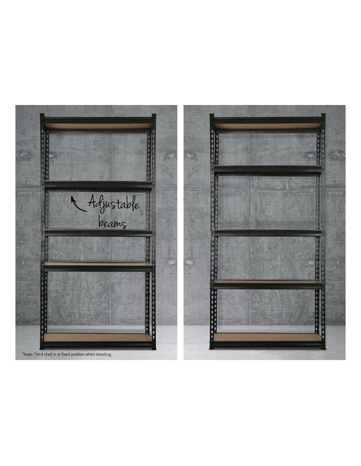 0.9M 5-Shelves Steel Warehouse Shelving Racking Garage Storage Rack Grey image 5