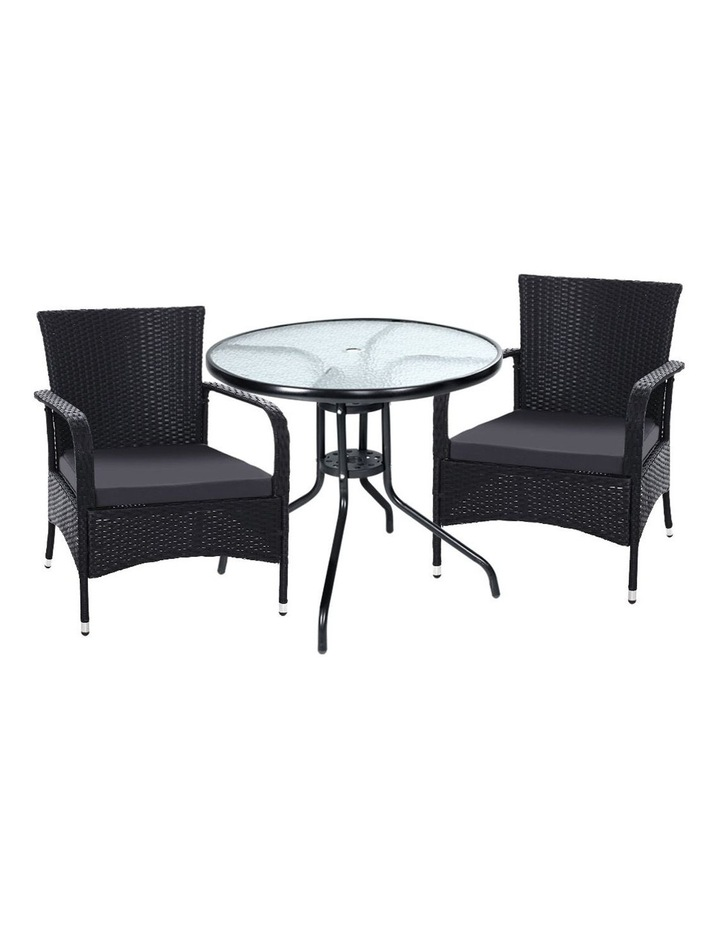 Outdoor Dining Chairs Bistro Patio Furniture Chair Wicker Garden Extra Large Tea Coffee Cafe Bar Set image 1