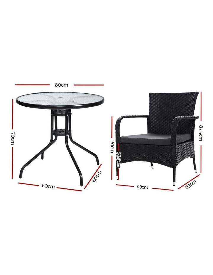 Outdoor Dining Chairs Bistro Patio Furniture Chair Wicker Garden Extra Large Tea Coffee Cafe Bar Set image 2