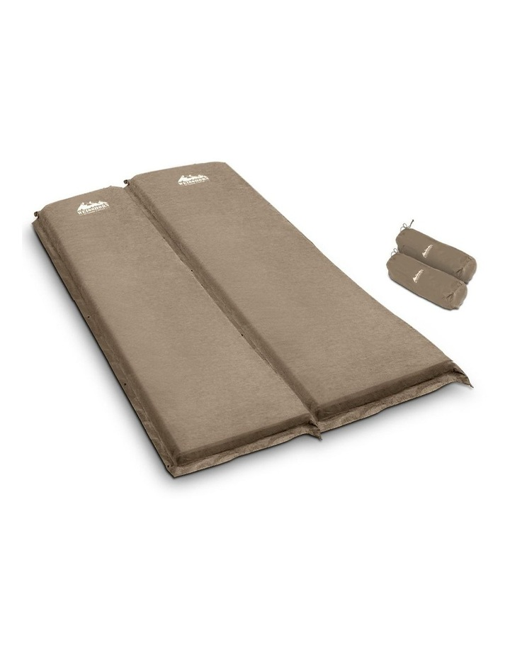 Self Inflating Mattress Camping Sleeping Mat Air Bed Pad Double Coffee 10CM Thick image 1