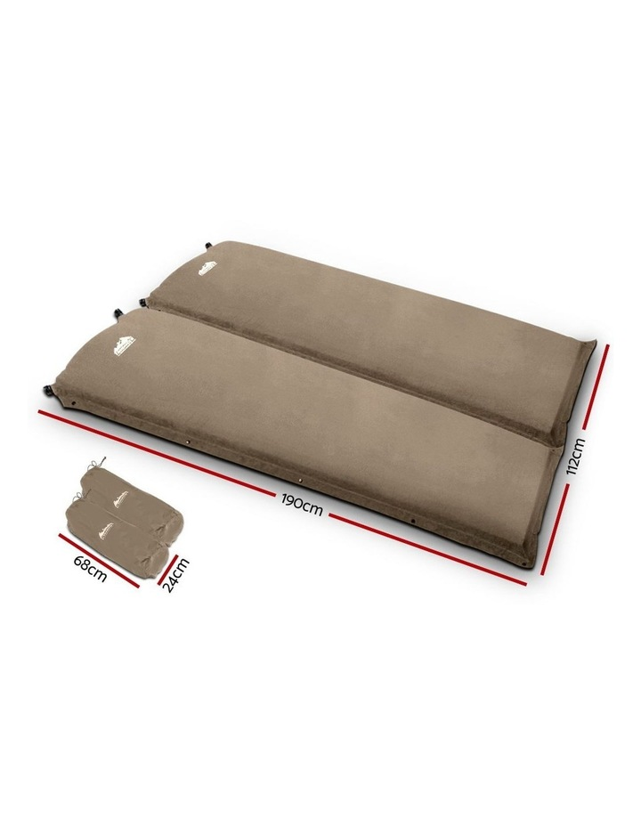 Self Inflating Mattress Camping Sleeping Mat Air Bed Pad Double Coffee 10CM Thick image 2