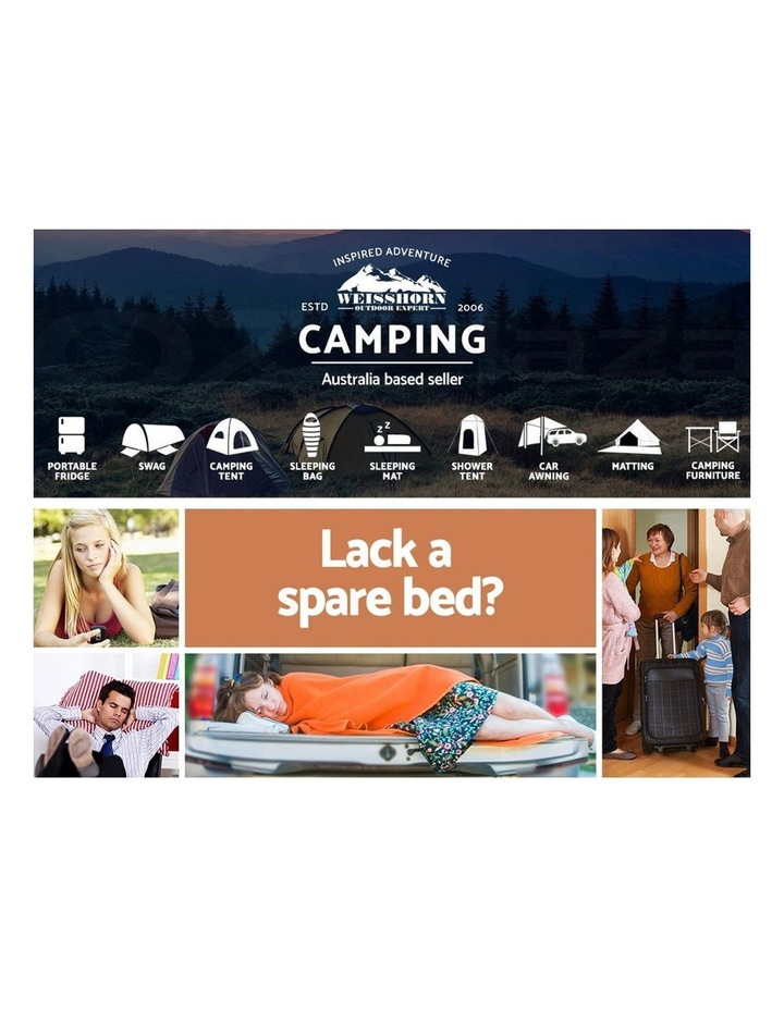 Self Inflating Mattress Camping Sleeping Mat Air Bed Pad Double Coffee 10CM Thick image 3
