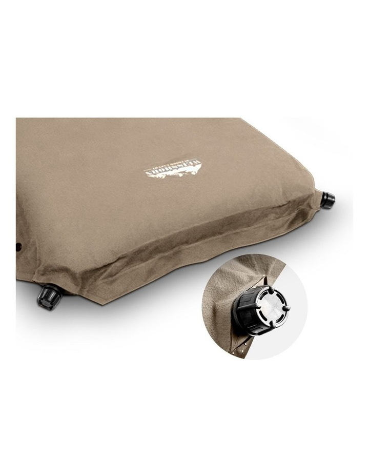 Self Inflating Mattress Camping Sleeping Mat Air Bed Pad Double Coffee 10CM Thick image 4