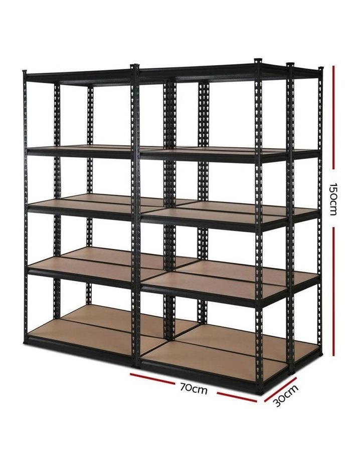 4x0.7M Warehouse Shelving Racking Storage Garage Steel Metal Shelves Rack image 2
