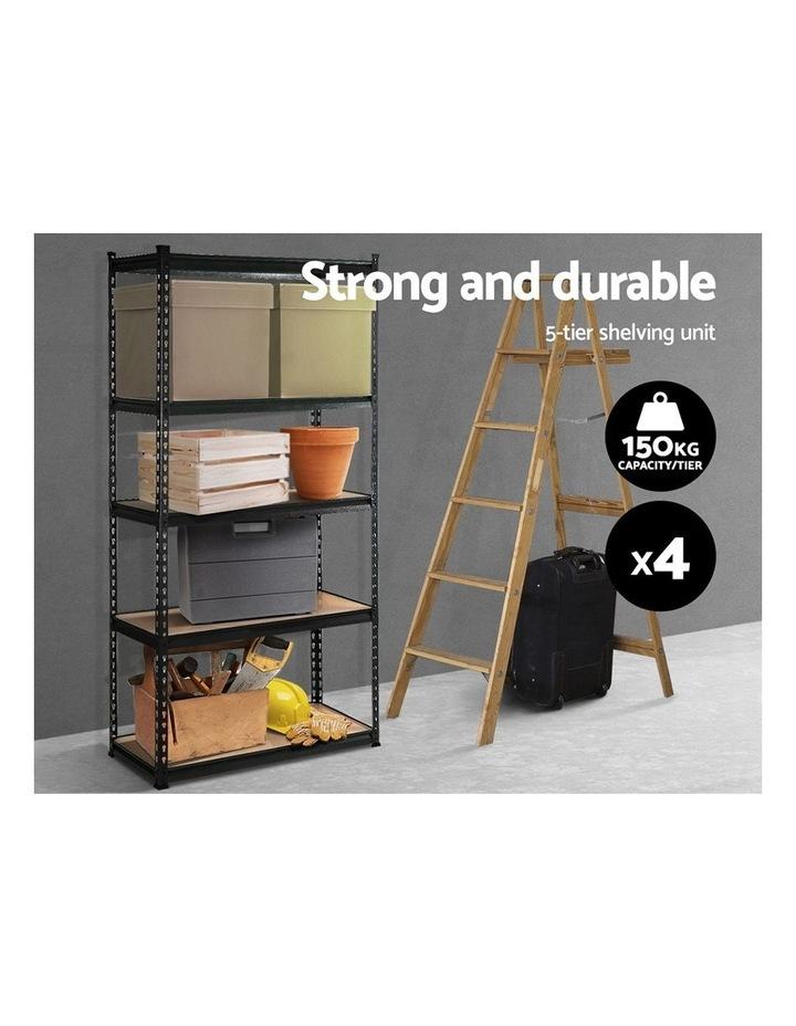 4x0.7M Warehouse Shelving Racking Storage Garage Steel Metal Shelves Rack image 3
