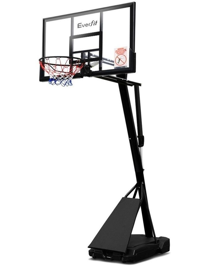 3.05M Adjustable Portable Basketball Stand Hoop System Rim image 1