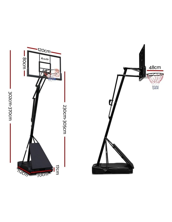 3.05M Adjustable Portable Basketball Stand Hoop System Rim image 2