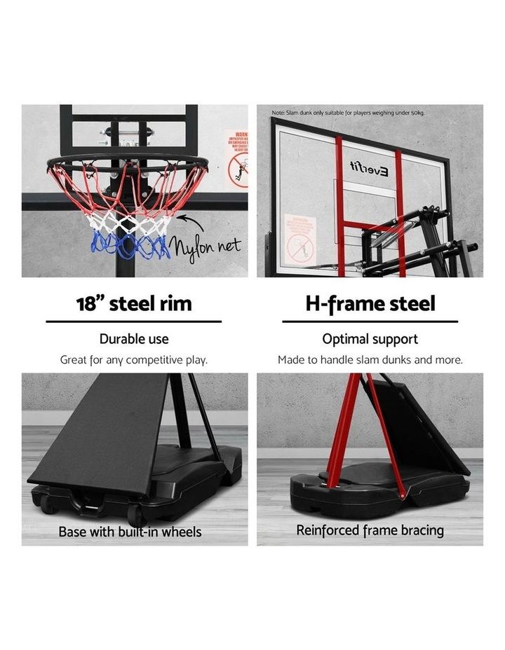 3.05M Adjustable Portable Basketball Stand Hoop System Rim image 4