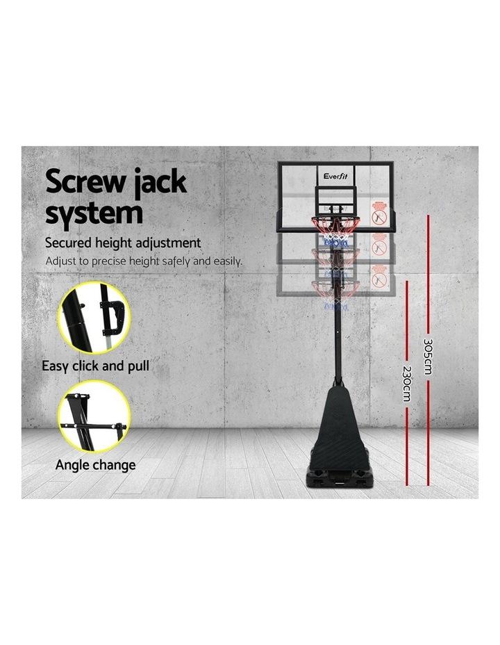 3.05M Adjustable Portable Basketball Stand Hoop System Rim image 5