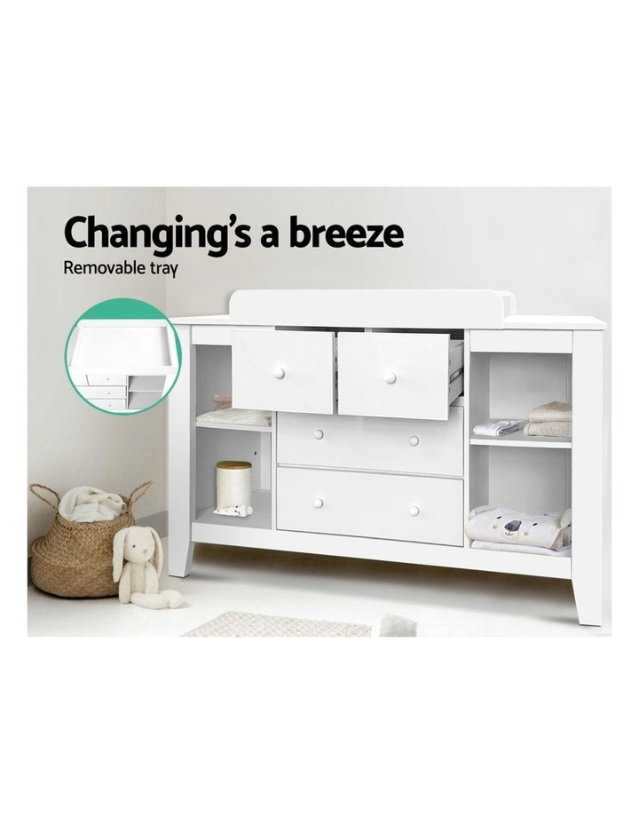 Keezi Change Table Baby Chest of Drawer Dresser Cabinet Changer Nursery Toy Box image 4