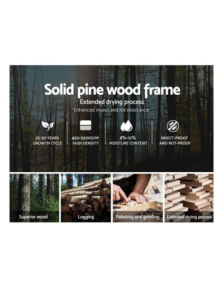 Single Size Wooden Bed Frame Mattress Base Timber Platform White image 4