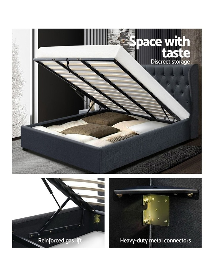 King Size Gas Lift Bed Frame - Charcoal image 4