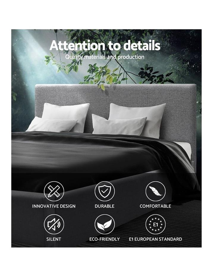 King Size Bed Frame Base Mattress Platform Fabric Wooden Grey NEO image 3