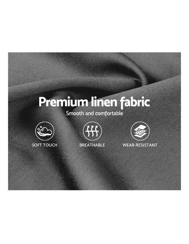 King Size Bed Frame Base Mattress Platform Fabric Wooden Grey NEO image 6
