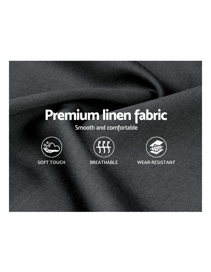 Queen Size Fabric Bed Frame - Charcoal image 6